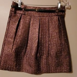 Metallic bronze colored skirt